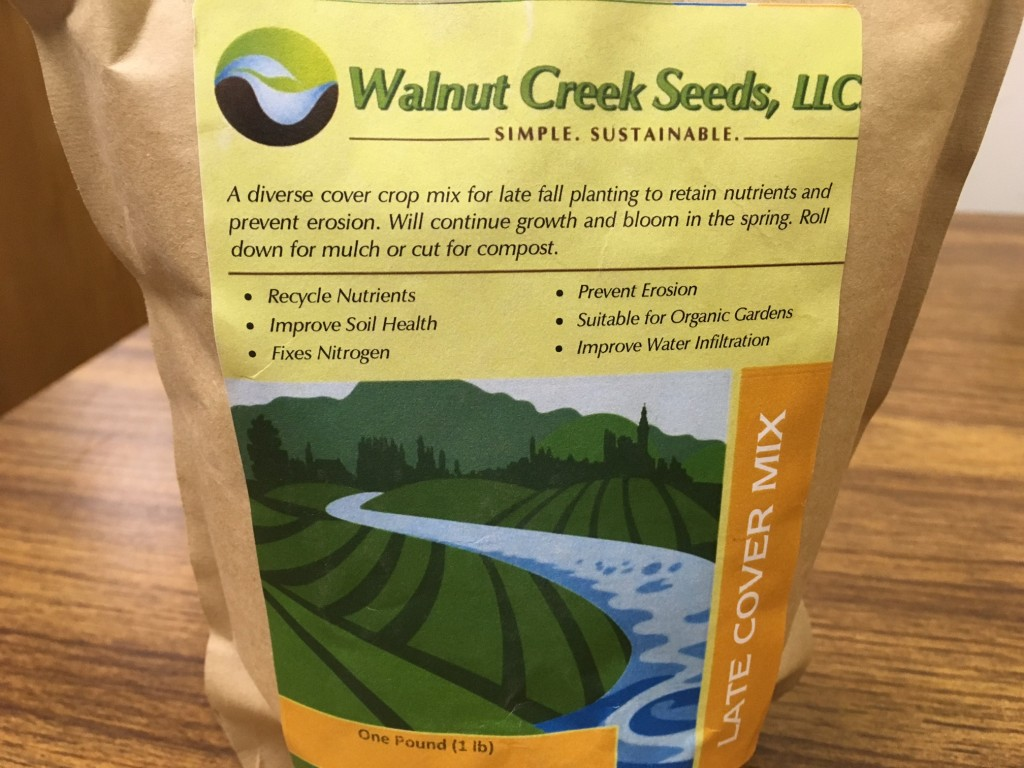 72.5% Winter Cereal Rye 12% Crimson clover 11.9% Hairy Vetch