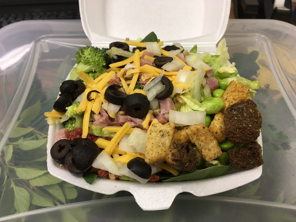 Get your salad fix at the HVCH cafeteria.