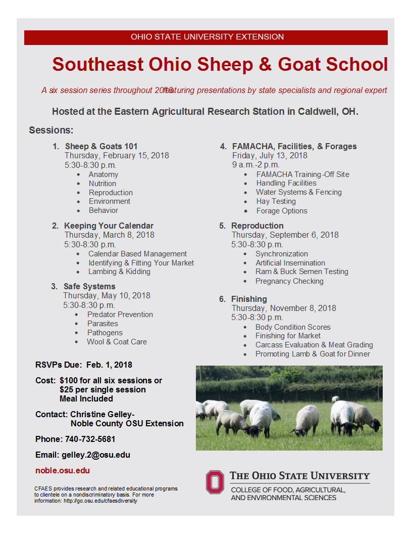 2018 Southeast Ohio Sheep and Goat School | Talking Hocking