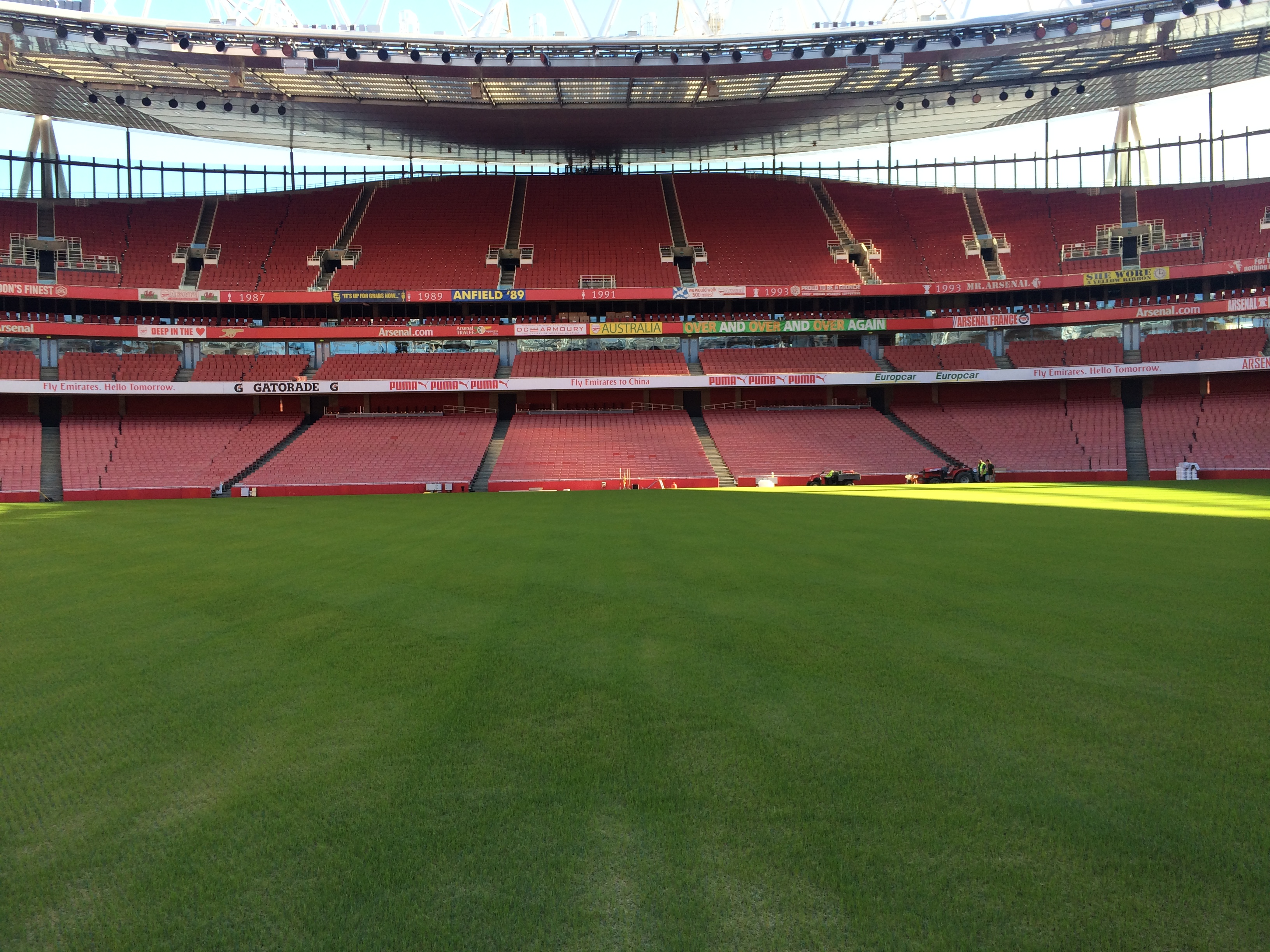 How Long Is A Football Pitch >> Tenth Week: Emirates Stadium to Afternoon Tea | The ...