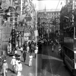 Trams heading toward Western district, circa 1920's