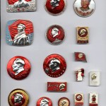 Collection of Mao Zedong badges