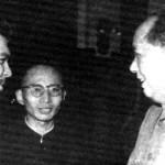 Mao greets Che Guevara, 1961