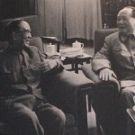 Guo Moruo and Mao Zedong sitting and speaking with each other