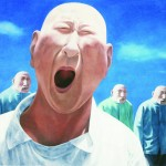 Fang Lijun's painting, Series II, no. 2