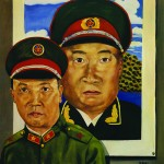 Liu Wei's painting, The Revolutionary Family: Dad in Front of a Poster of Zhu De