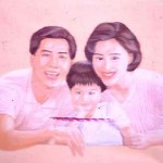 Yang Min and family