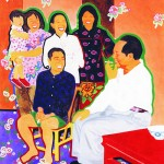 Yu Youhan's painting, Chairman Mao in Discussion with Peasants in Shao Shan