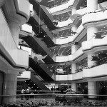atrium inside the Tianhe Shopping Center, Guangzhou
