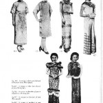 magazine page on Chinese female fashions