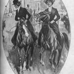 1911 photo of women riding horses, Xiaoshuo yuebao