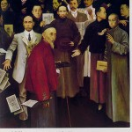 Painting of Beijing University scholars