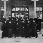 Literary Association posing in front of building