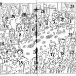 Illustration of literary tea talk