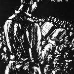 A wartime representation of poetry recitation
