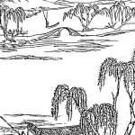 Illustration for the fan-shaped window design for lake excursion boats. Li Yu, Xianqing ouji (1671). Woodblock print, Zhejiang guji edition, 1992