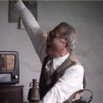 An actor playing Lin Maosheng, who is seen shouting joyously upon hearing the radio broadcast by Emperor Hirohito, in the documentary Scars of 2/28