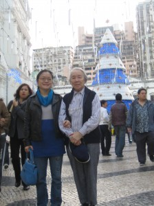 Li Xiaoyin and the author in Macau