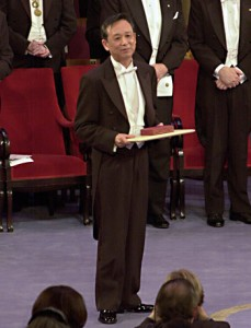 Fig. 1: Gao Xingjian being awarded the Nobel Prize for Literature, Dec. 10, 2000.