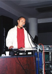 Fig. 2: Yan Jun during his December 2002 gig as support act for Hei Dachun and Vision