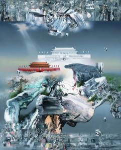 中国梦 Chinese Dream 150x120cm 布面油画、丙烯 Oil and acrylic on canvas 2016.