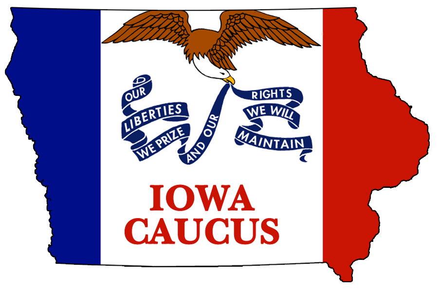 """Iowa Caucus - Illustration"" by DonkeyHotey (CC BY 2.0)"