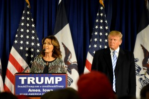"""Trump and Palin at ISU - 1/19/2016"" by Alex Hanson (CC BY 2.0)"