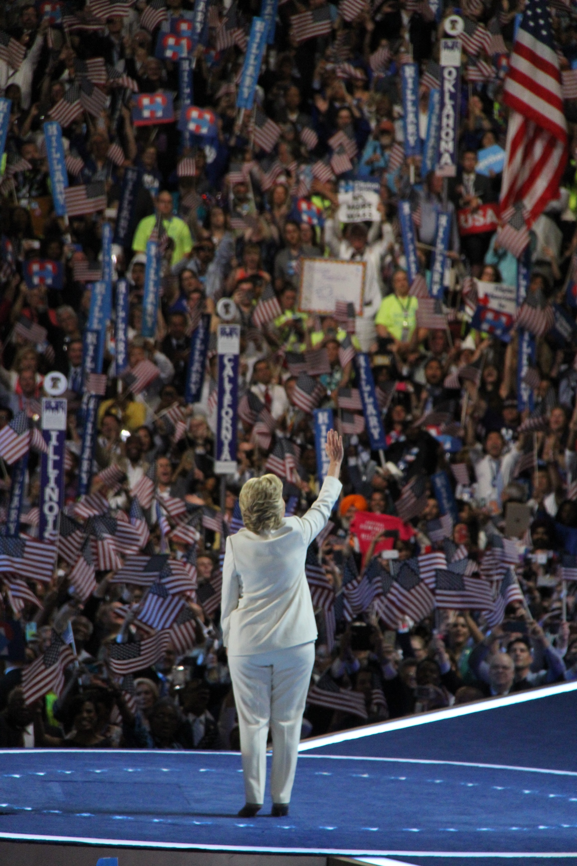 """Hillary Clinton at the Democratic National Convention Last Night"" by Andrew Dallos (CC BY-NC-ND 2.0)"
