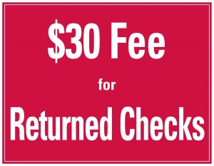 Return Check Charge