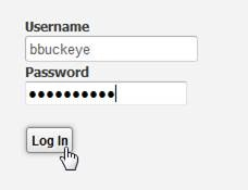 Enter username, password, and click on Log In