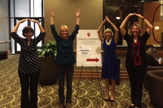 Carolyn Schubert, Joni Tornwall, Lizzie Fitzgerald, Wendy Bowles at the 2015 PNEG conference in Indianapolis