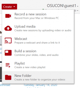 Create --> New Folder