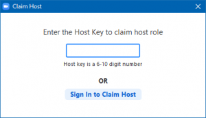 Sign in to Claim Host