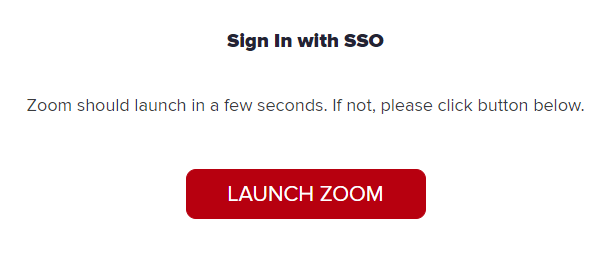 Zoom SSO in browser
