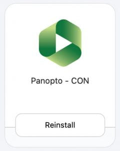 Install/Reinstall Panopto