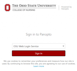 Sign into Panopto with OSU Web Login Service