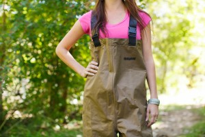 Student in waders