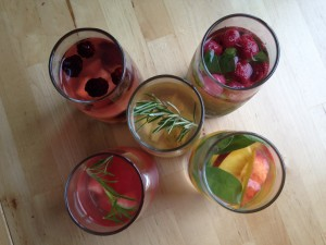 5 glasses of water infused with Ohio produce