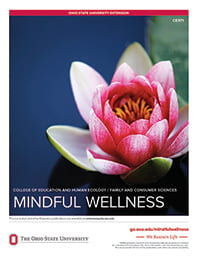 photo of flower on cover of Mindfull Wellness curriculum