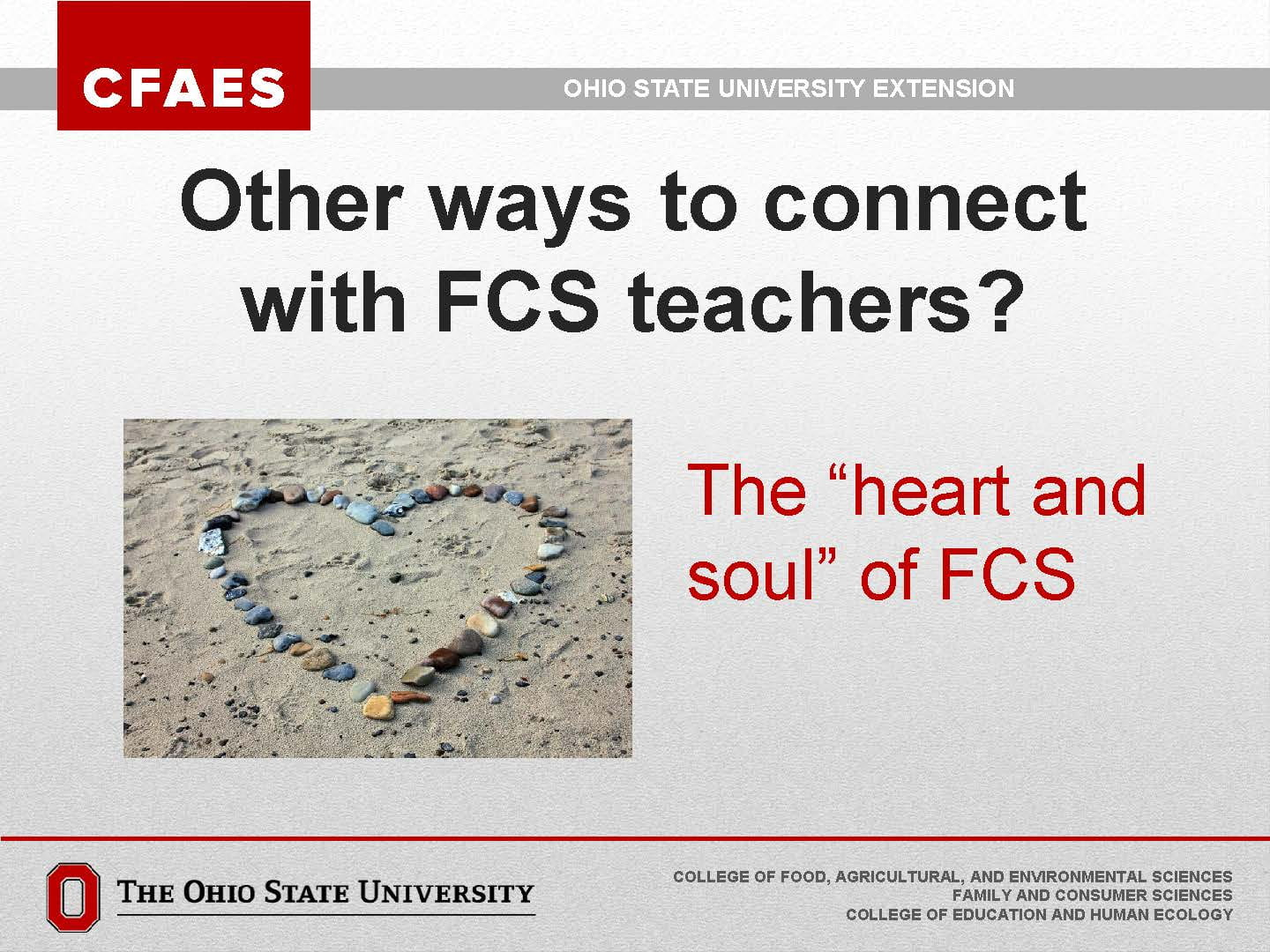 "photo of hear and connecting with ""heart and soul"" of FCS, the teachers"