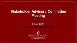 3 April Advisory