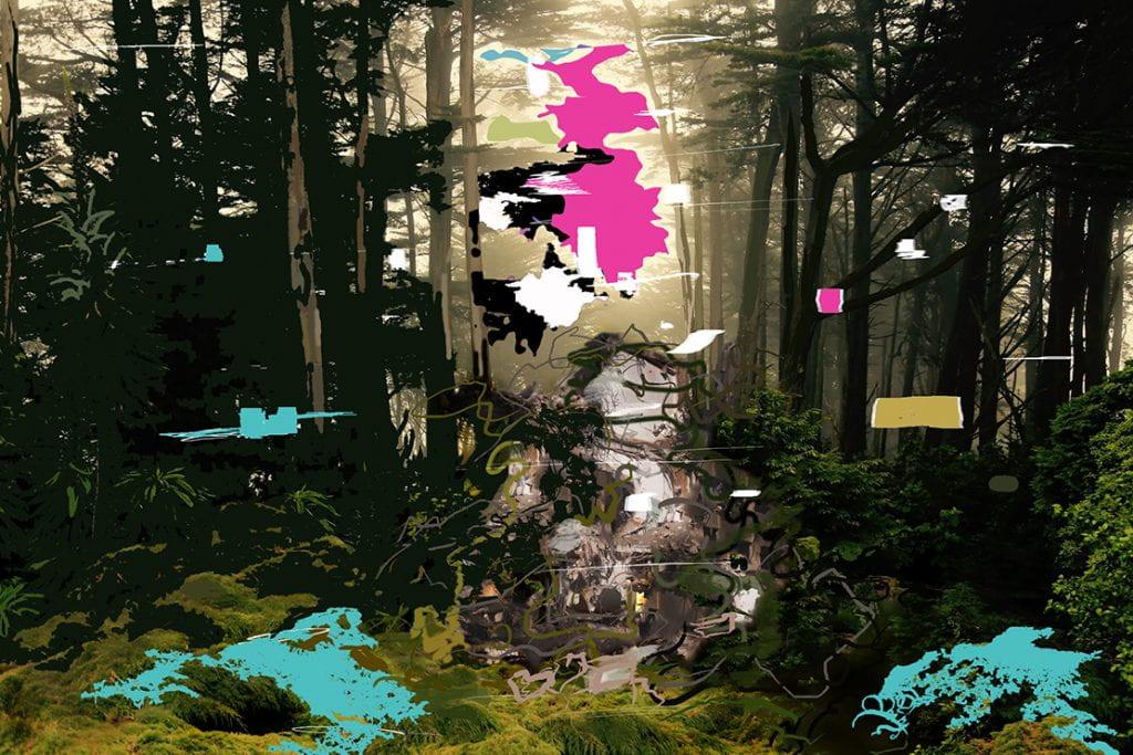 artwork with glitches