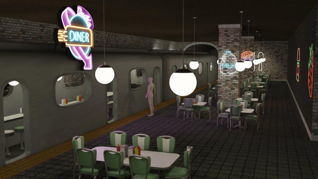 Duck's Diner, by Trevor McNutt