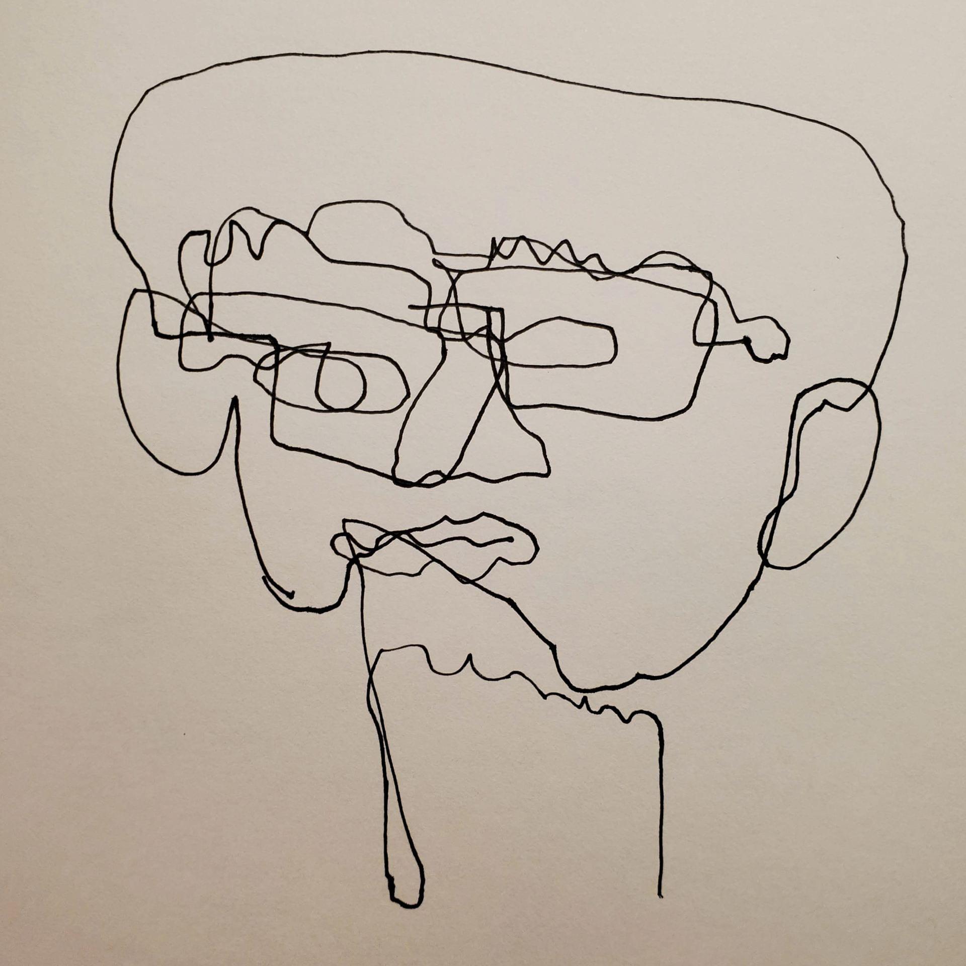 Exercise 1 Contour And Blind Contour Portraits Rohin Mukherjee S Art Blog
