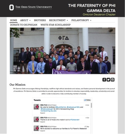 screen shot of u.osu.edu/osuphigam