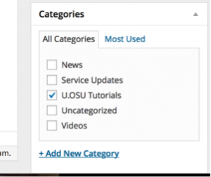 How to Use: Categories & Tags