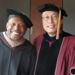 Archie Griffin and Ken Lee at Commencement