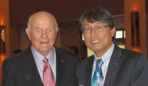 John Glenn and Ken Lee ahead of forming the Glenn College of Public Policy
