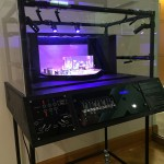 Interactive stage lighting exihibit