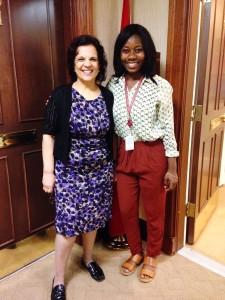 With the Senator I interned for Senator Mobina Jaffer